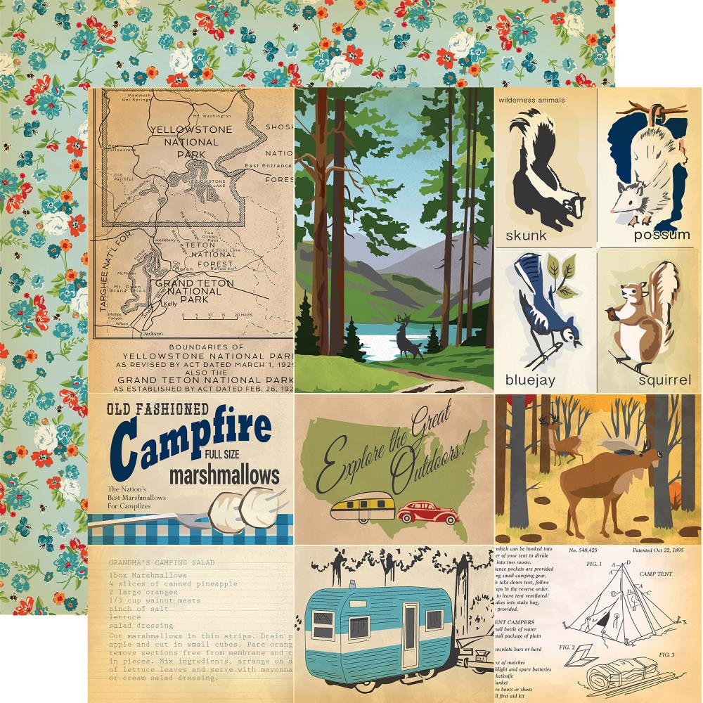 Carta Bella - Gone Camping Double-Sided Cardstock - Journaling Cards