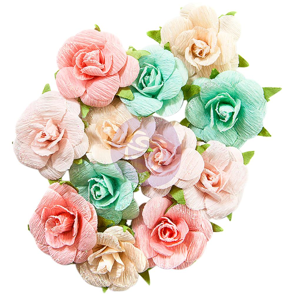 Prima Marketing -  Havana Crepe Paper Flowers 12/Pkg - Savina
