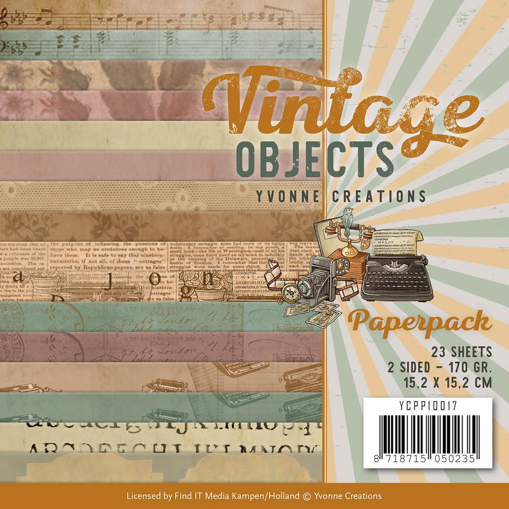 "Find It Trading - Yvonne Creations Vintage Objects Paper Pack - 6"" x 6"""
