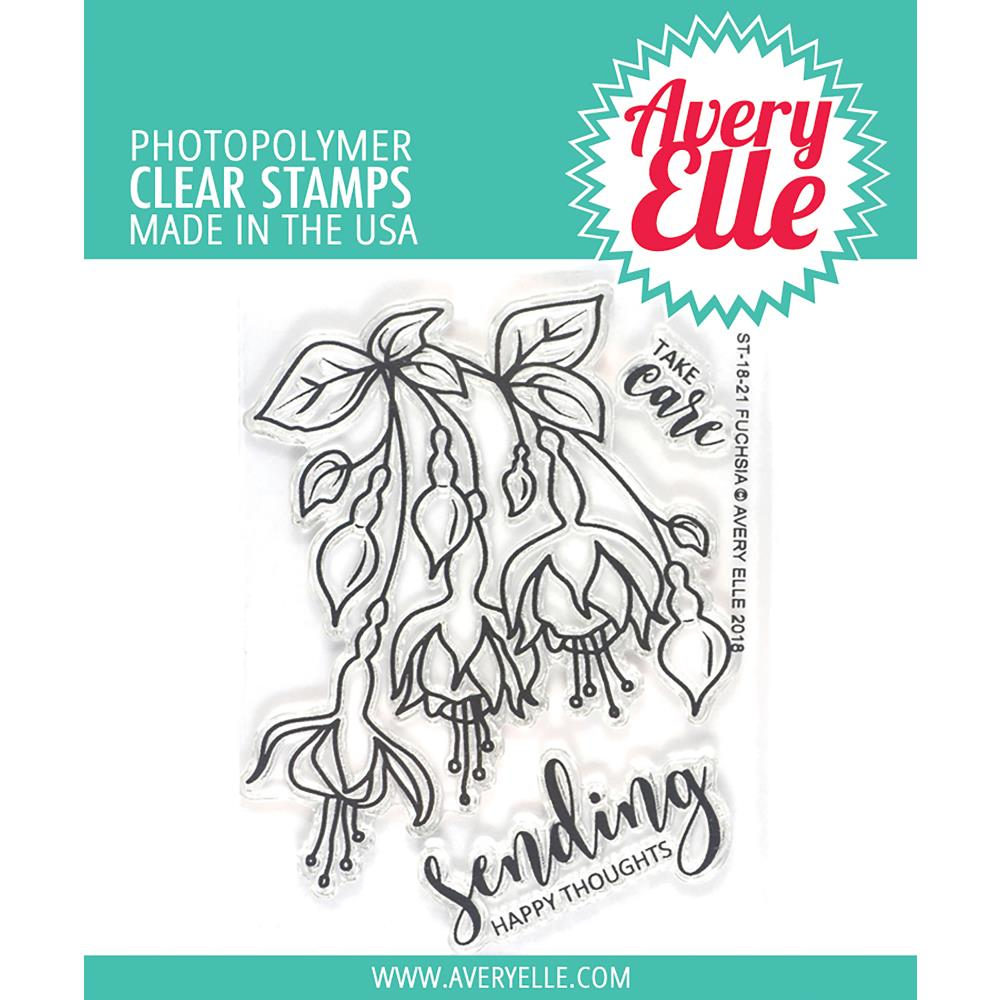 "Avery Elle - Clear Stamp Set 4""X3"" - Fuchsia"