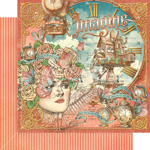 "Graphic 45 - Imagine Double-Sided Cardstock 12""X12""  - Imagine"