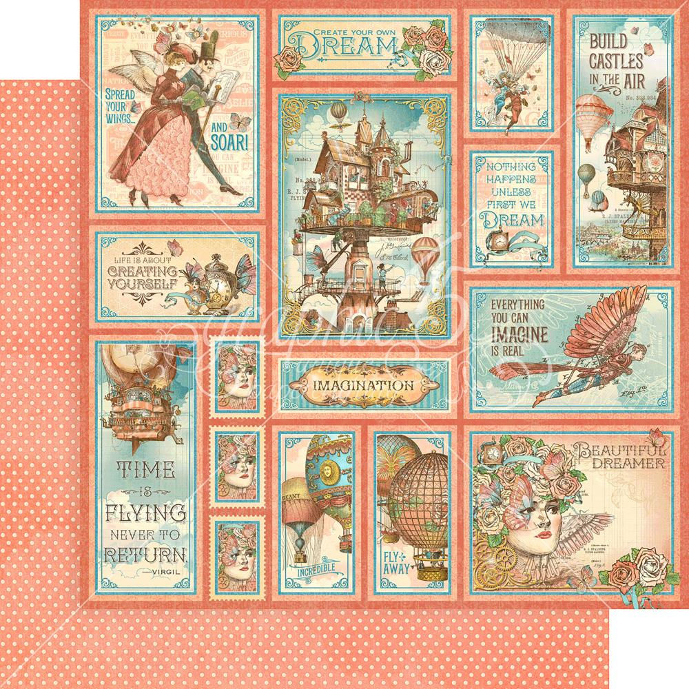 "Graphic 45 - Imagine Double-Sided Cardstock 12""X12"" - Castles In The Air"