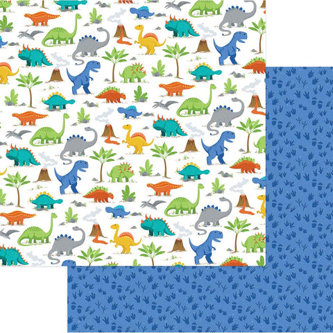 "Photoplay Paper - Jurassic Double-Sided Cardstock 12""X12"" - Stomp"