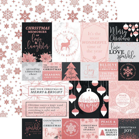 Kaisercraft - Sparkle Double-Sided Specialty Cardstock - Luster