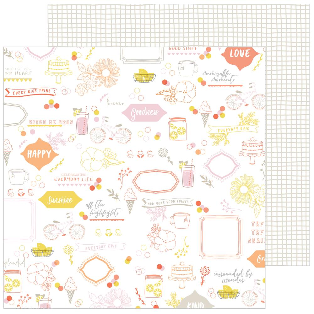 "Pinkfresh Studio - Simple & Sweet Double-Sided Cardstock 12""X12"" - Sweet Life"