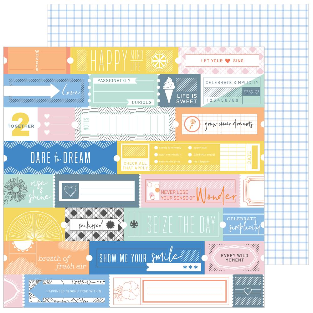 "Pinkfresh Studio - Simple & Sweet Double-Sided Cardstock 12""X12"" - Fresh Air"