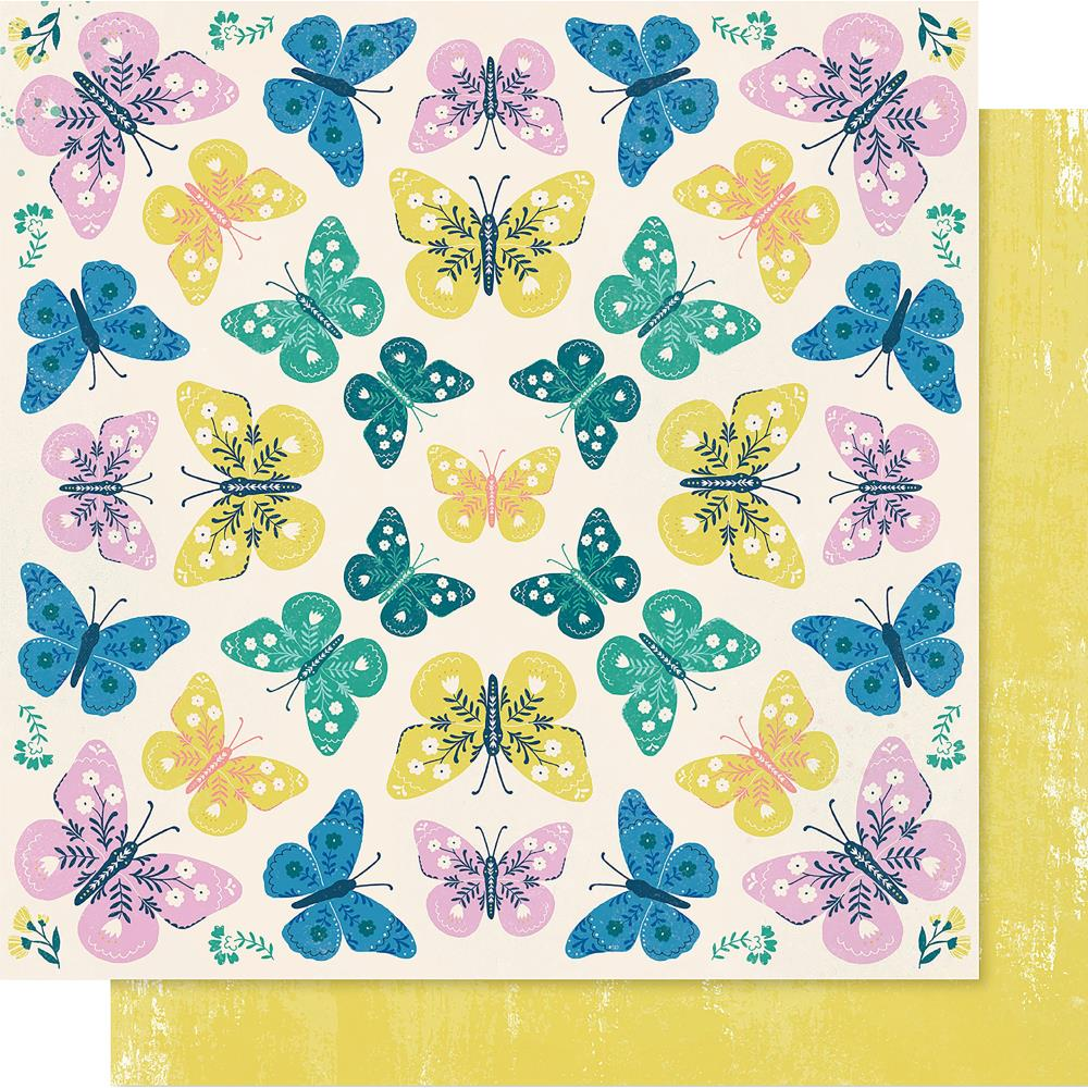 "Crate Paper - Maggie Holmes Willow Lane Double-Sided Cardstock 12""X12"" - Flutter"
