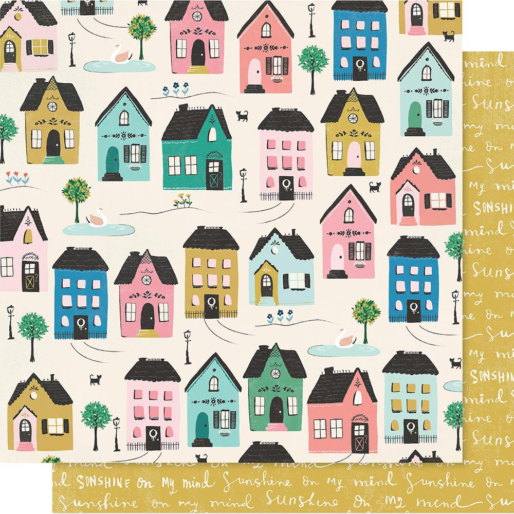 "Crate Paper - Maggie Holmes Willow Lane Double-Sided Cardstock 12""X12""- Cottage"