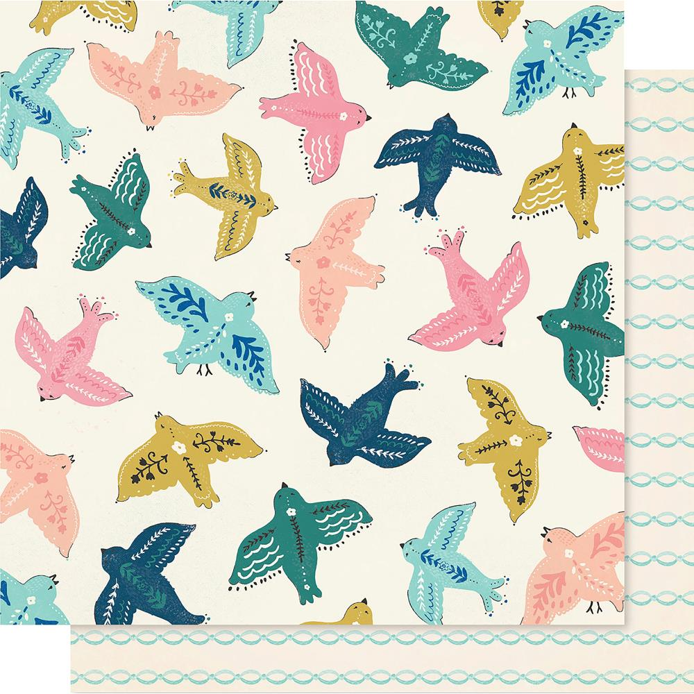 "Crate Paper - Maggie Holmes Willow Lane Double-Sided Cardstock 12""X12"" - Sparrow"