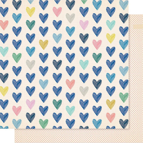 "Crate Paper - Maggie Holmes Willow Lane Double-Sided Cardstock 12""X12"" - Kind Heart"