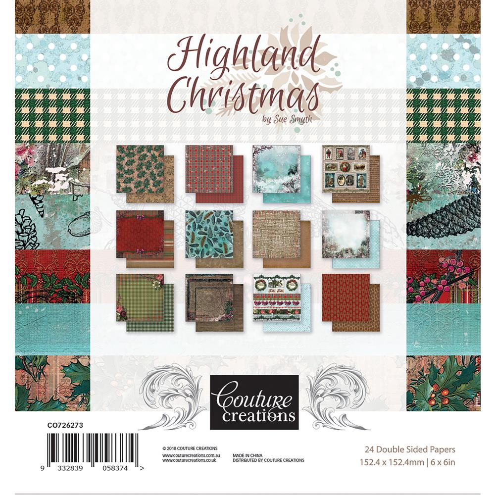"Couture Creations - Highland Christmas Paper Pad - 6""x6"""