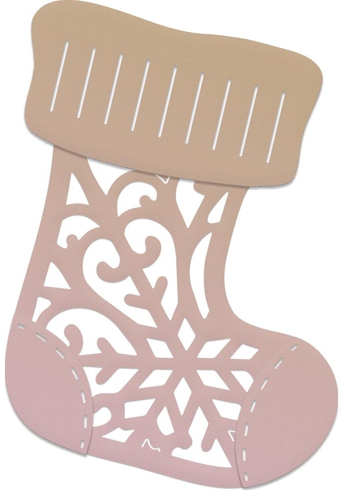 Couture Creations - Highland Christmas Mini Die - Patterned Stocking