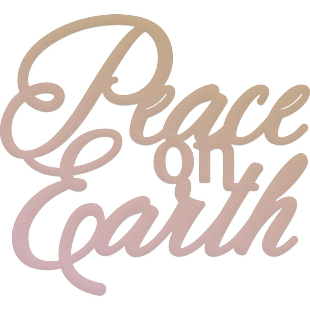 Couture Creations - Highland Christmas Mini Die - Peace On Earth