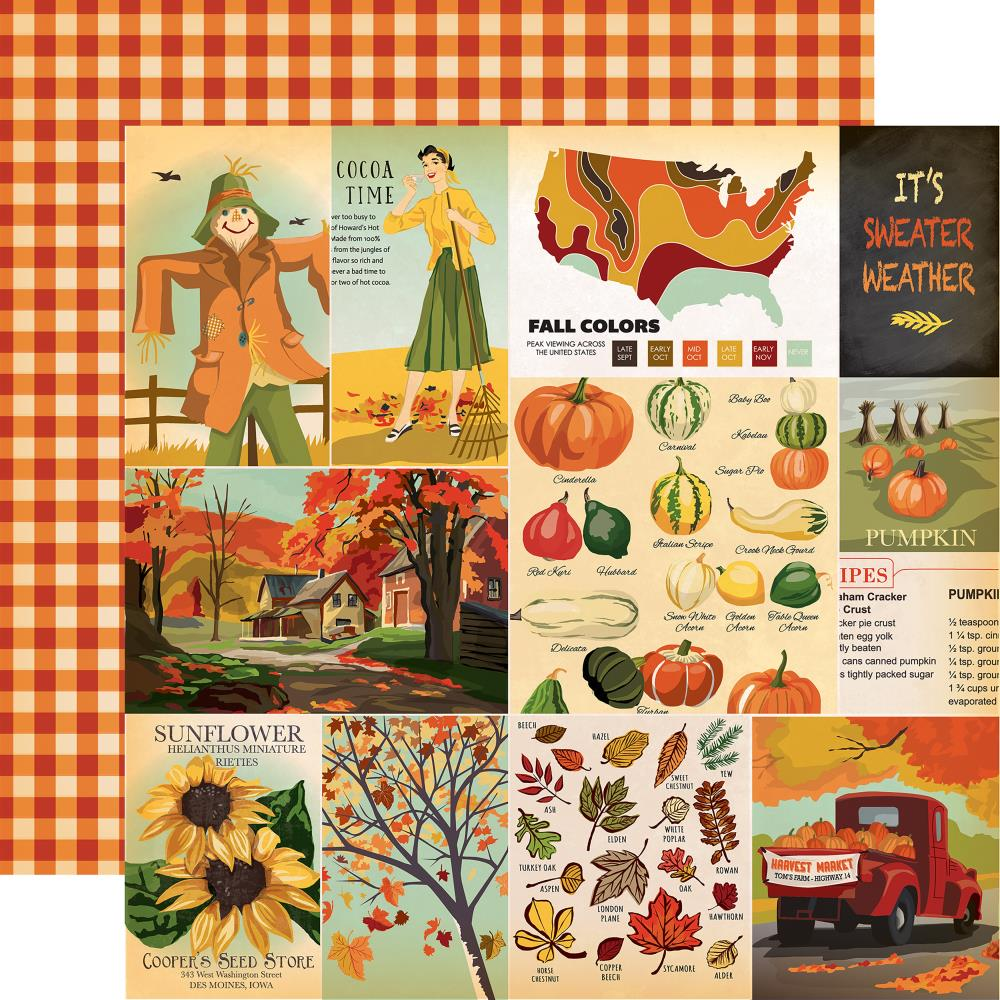 Carta Bella - Fall Break Double-Sided Cardstock - Journaling Cards