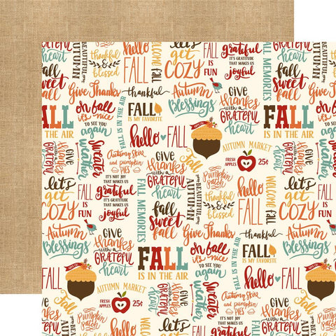 ***Pre-Order*** Echo Park Paper - Celebrate Autumn Double-Sided Cardstock - Fall Is Fun