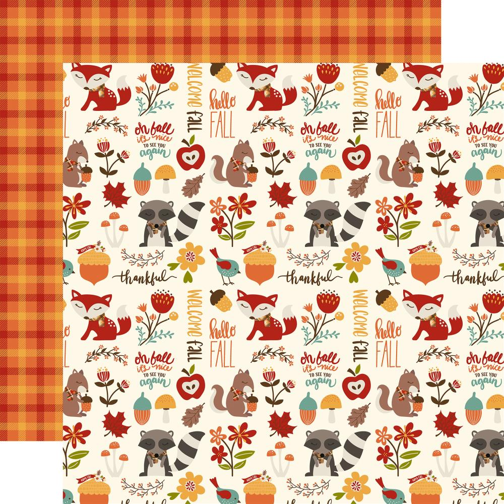 Echo Park Paper - Celebrate Autumn Double-Sided Cardstock - Autumn Friends