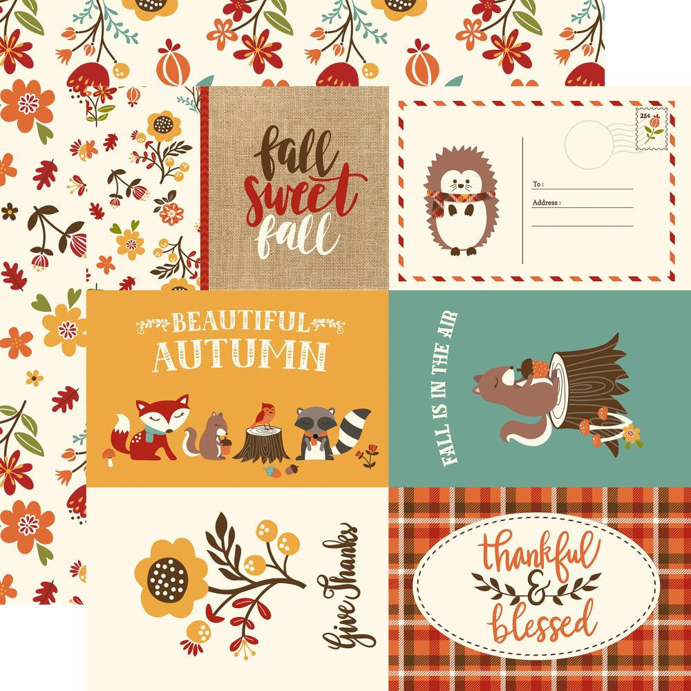 "Echo Park Paper - Celebrate Autumn Double-Sided Cardstock - 4""x6"" Journaling Cards"