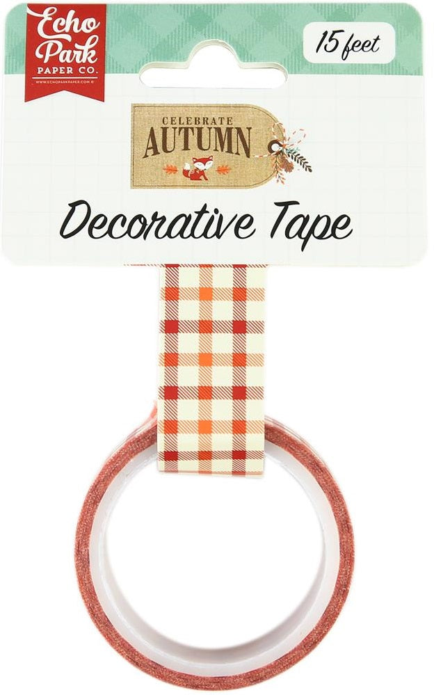 Echo Park Paper - Celebrate Autumn Decorative Tape - Autumn Gingham
