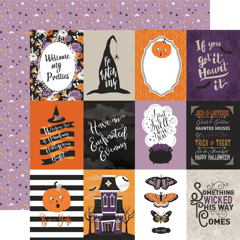 "Echo Park Paper - Bewitched Double-Sided Cardstock - 3""x4"" Journaling Cards"