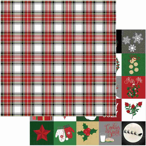 Photoplay Paper - Here Comes Santa Double-Sided Cardstock - Countdown