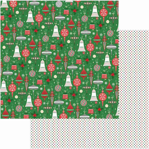 Photoplay Paper - Here Comes Santa Double-Sided Cardstock - Trimmings