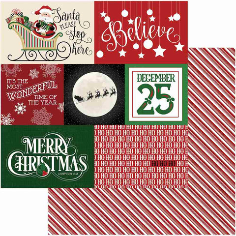 Photoplay Paper - Here Comes Santa Double-Sided Cardstock - Believe