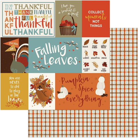 Photoplay Paper - Fall Breeze Double-Sided Cardstock - Thankful