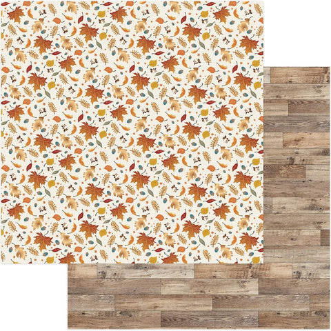 Photoplay Paper - Fall Breeze Double-Sided Cardstock - Autumn Leaves