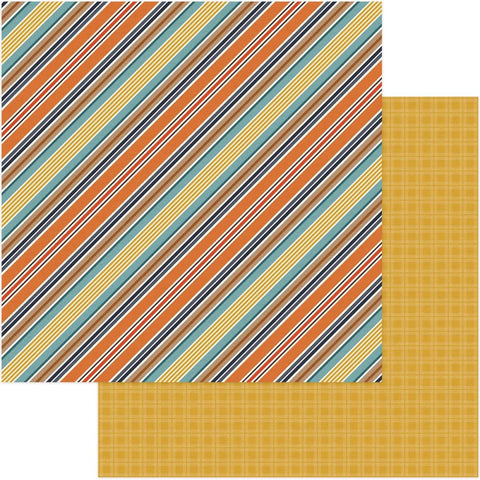 Photoplay Paper - Fall Breeze Double-Sided Cardstock - Breezy Stripes