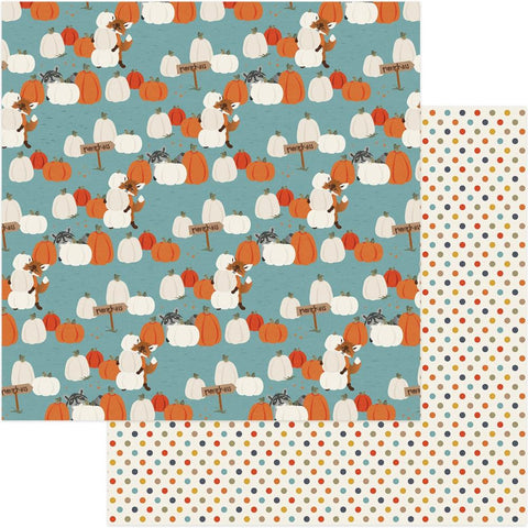 Photoplay Paper - Fall Breeze Double-Sided Cardstock - Pumpkin Patch