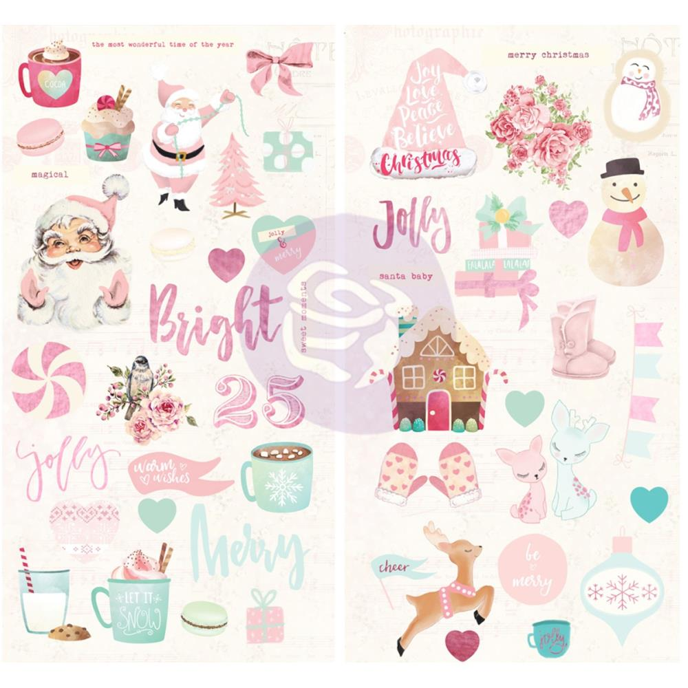 "Prima Marketing - Santa Baby Chipboard Stickers 6""X12"" 2/Pkg - W/Foil Accents"