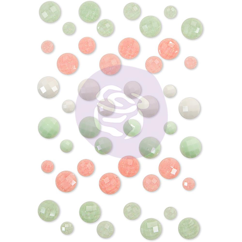 Prima Marketing - Santa Baby Say It In Crystals Adhesive Embellishments - Assorted Dots 48/Pkg