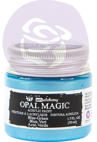 ***Pre-Order*** Prima Marketing - Finnabair Art Alchemy Opal Magic Acrylic Paint - Blue/Green