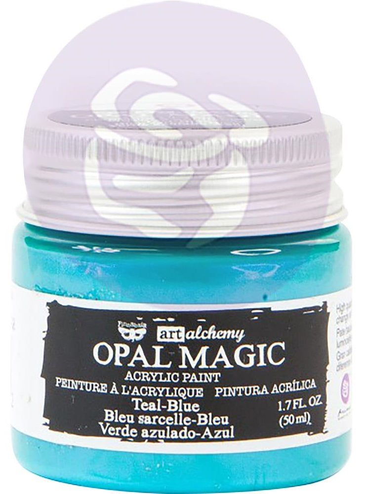 Prima Marketing - Finnabair Art Alchemy Opal Magic Acrylic Paint - Teal/Blue