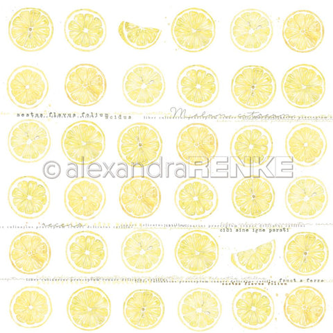 "Alexandra Renke - Cooking Paper 12""X12"" - Lemon In Slices"