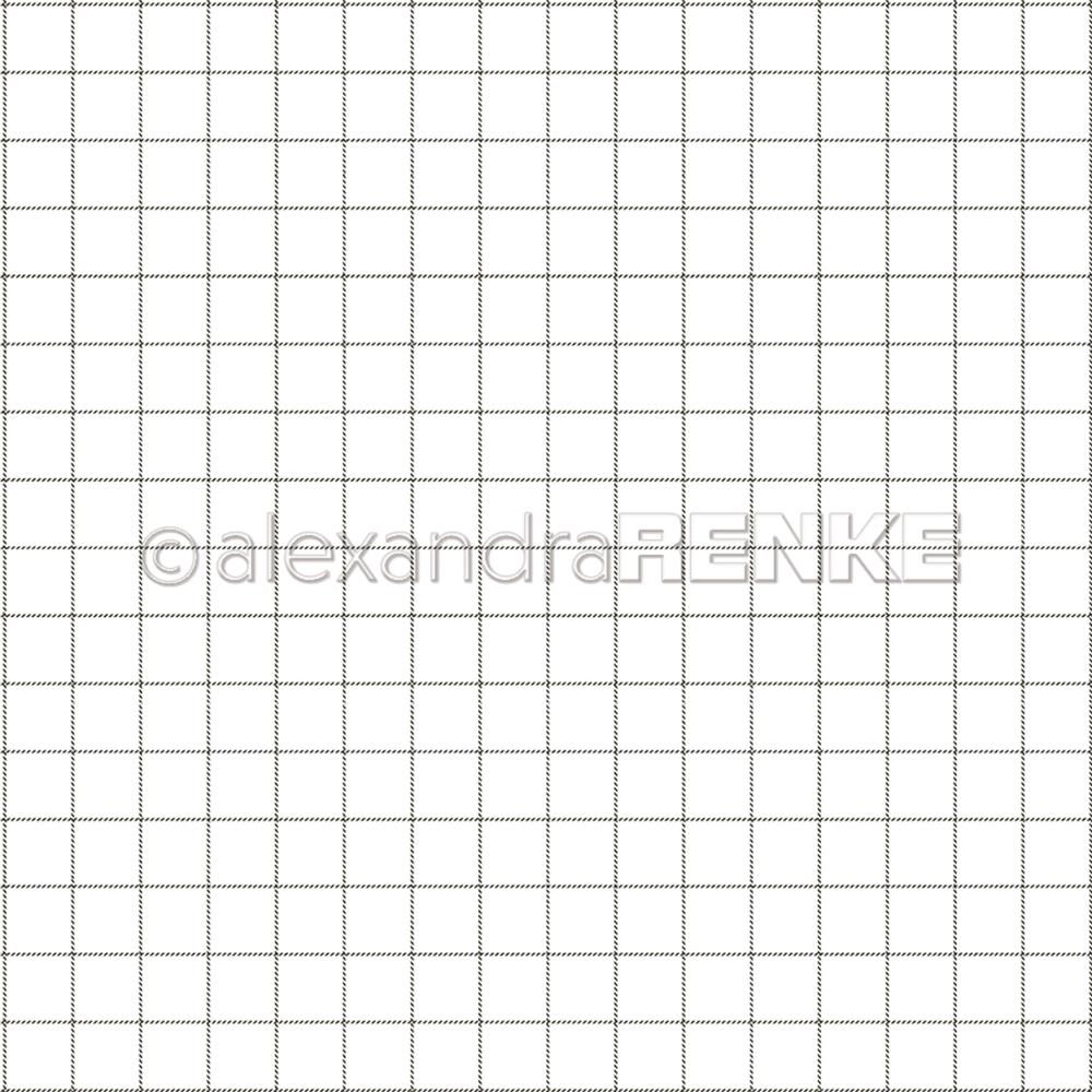 "Alexandra Renke - Cooking Paper 12""X12"" - Little Black Check"