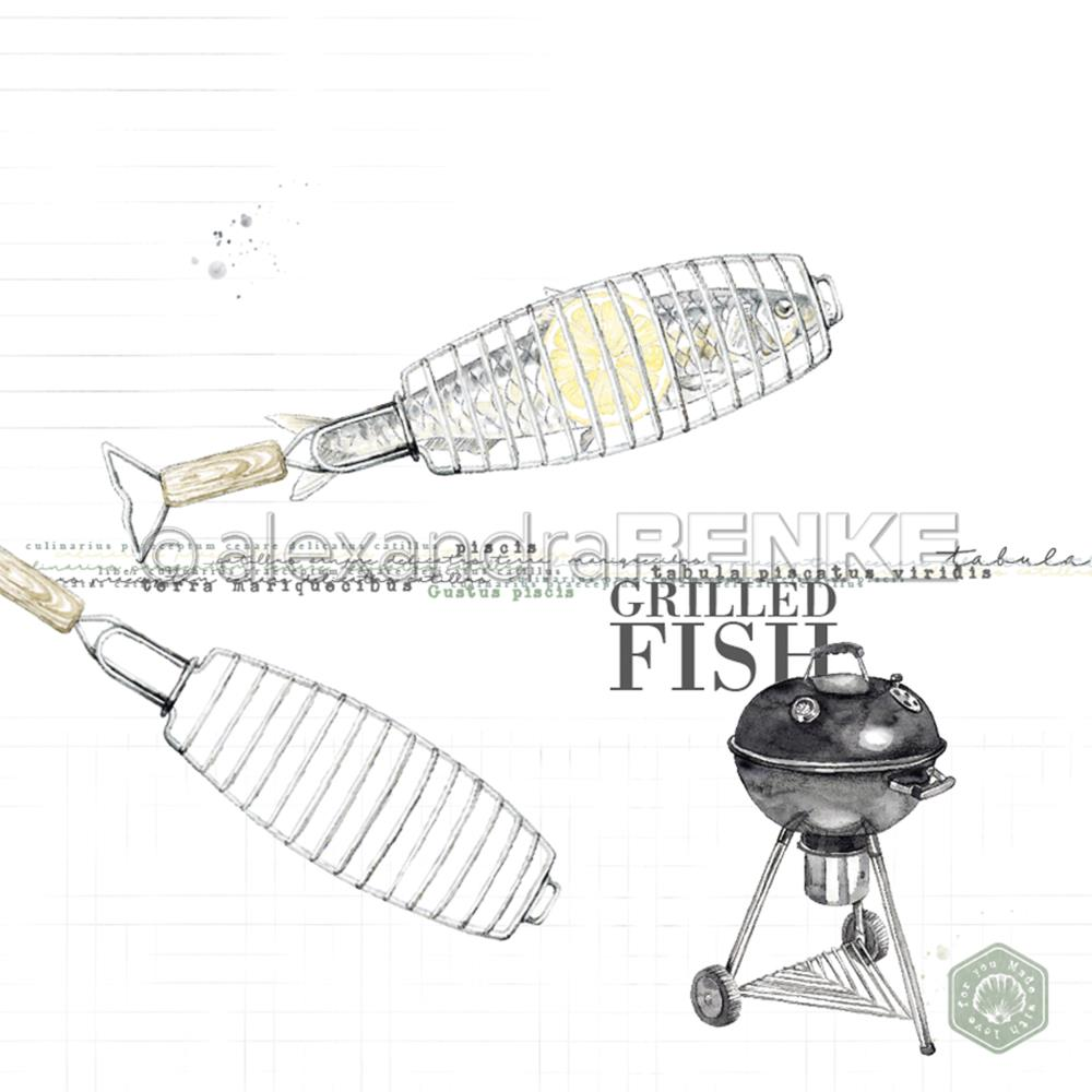 "Alexandra Renke - Cooking Paper 12""X12"" - Grilled Fish"