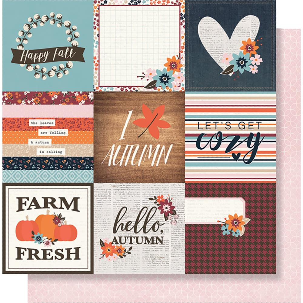 "Simple Stories - Forever Fall Double-Sided Cardstock 12""X12"" 4""X4"" - Elements"