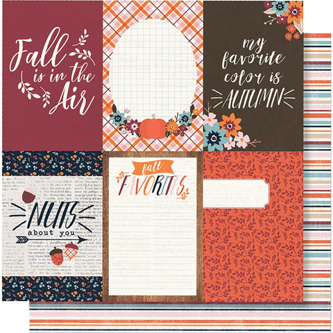 "(Pre Order) Simple Stories - Forever Fall Double-Sided Cardstock 12""X12"" 4""X6"" - Vertical Elements"