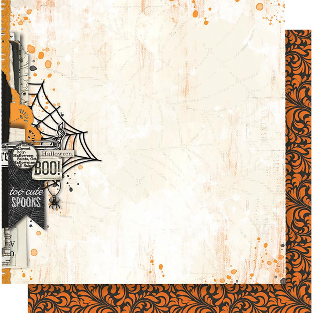 "Simple Stories - Simple Vintage Halloween Double-Sided Cardstock 12""X12""-  October 31st"