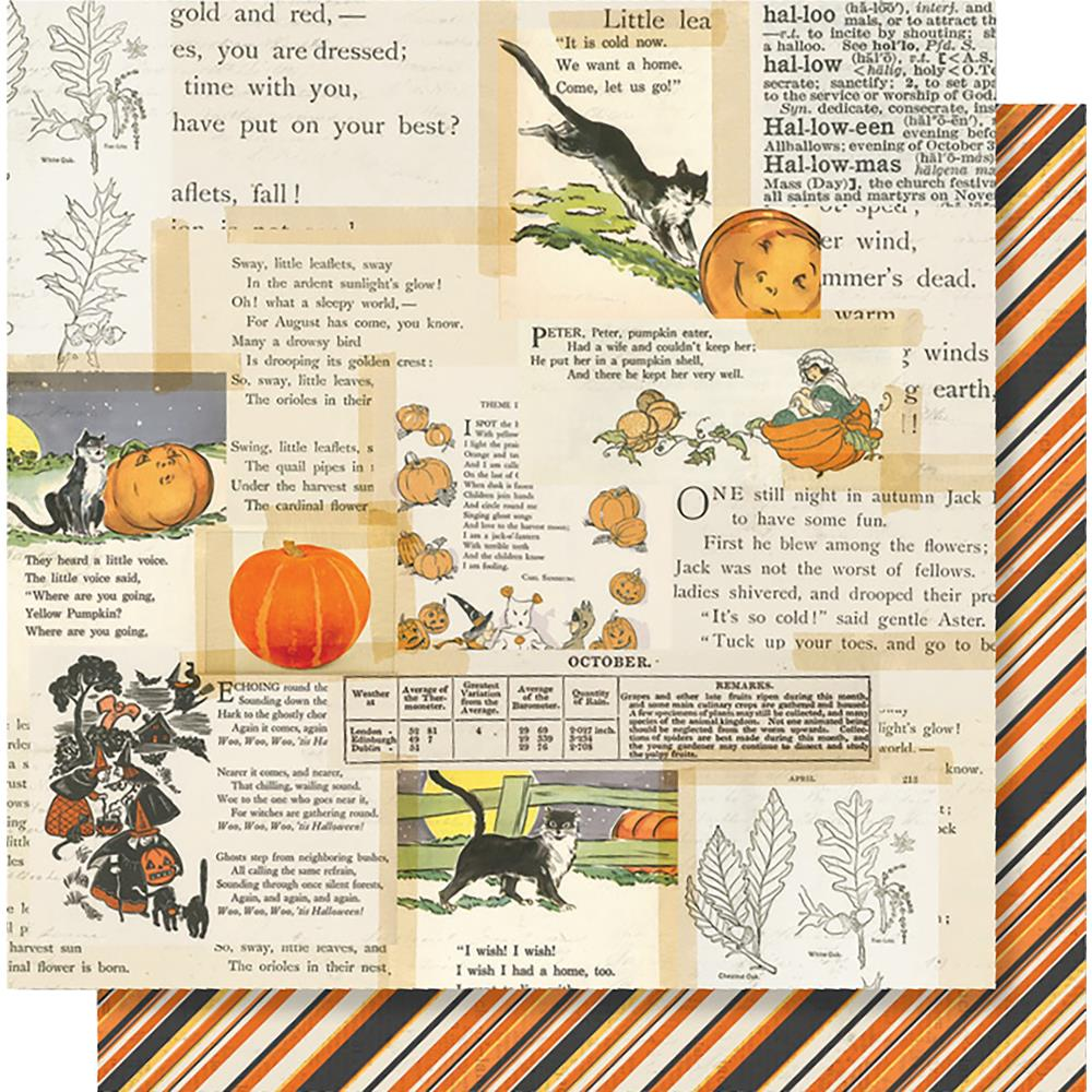 "Simple Stories - Simple Vintage Halloween Double-Sided Cardstock 12""X12"" - Little Monsters"
