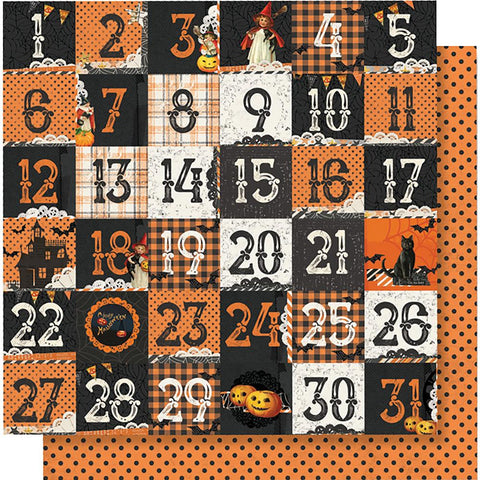 "Simple Stories - Simple Vintage Halloween Double-Sided Cardstock 12""X12"" 2""X2"" - Elements"