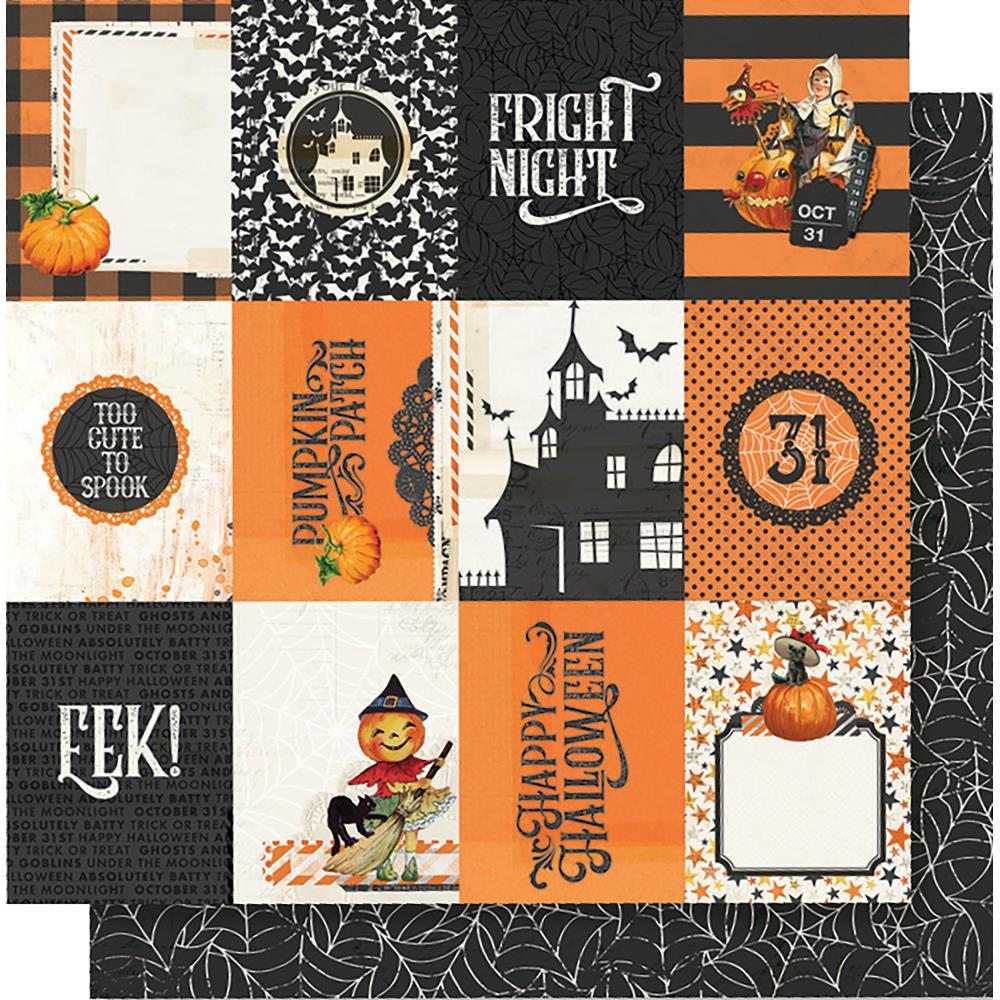 "Simple Stories - Simple Vintage Halloween Double-Sided Cardstock 12""X12"" 3""X4"" - Elements"