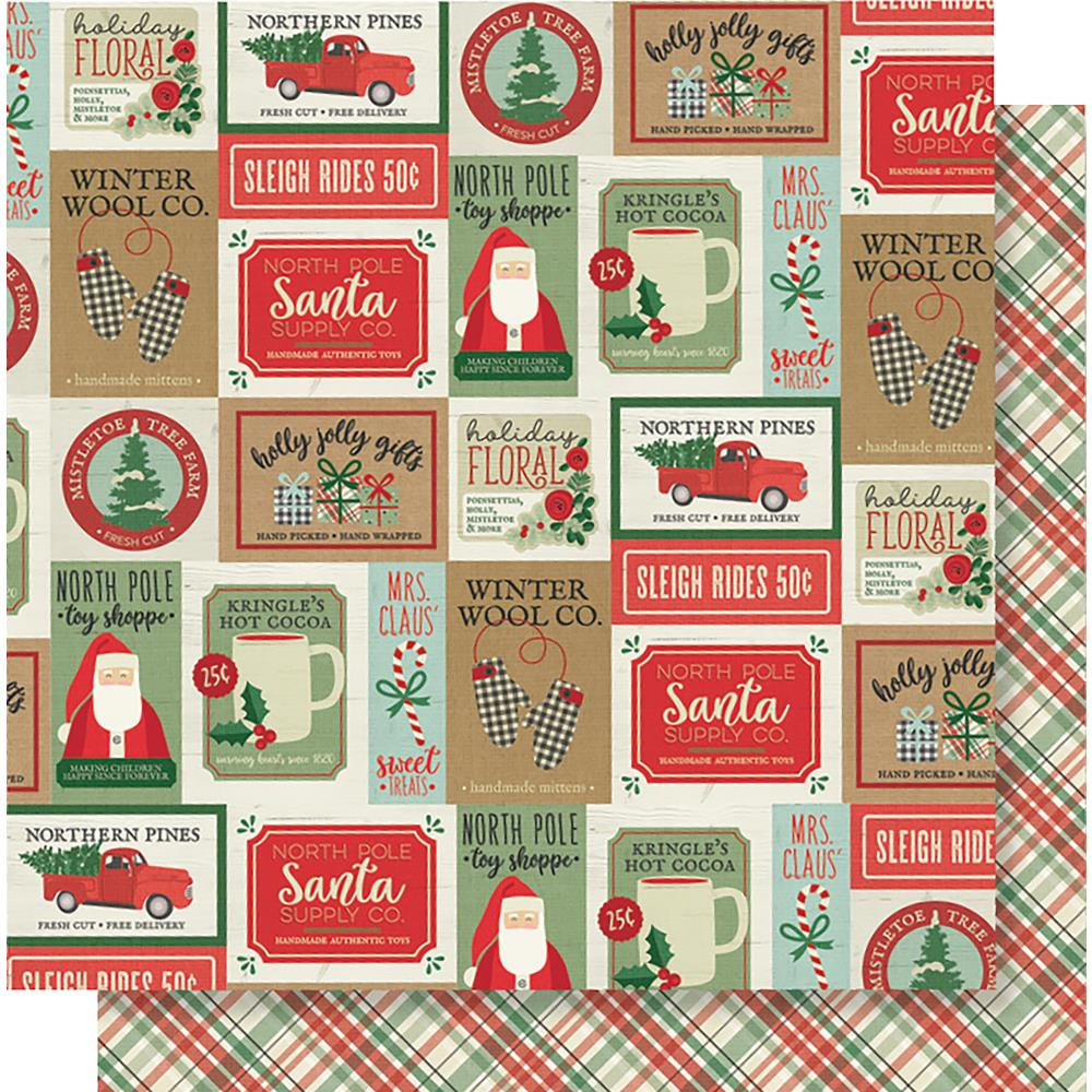 "Simple Stories - Merry & Bright Double-Sided Cardstock 12""X12"" - Celebrate The Season"