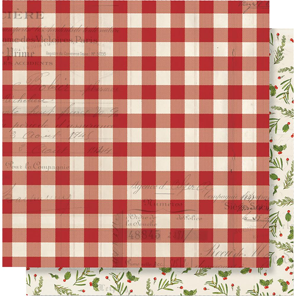 "Simple Stories - Simple Vintage Christmas Double-Sided Cardstock 12""X12-  Believe"