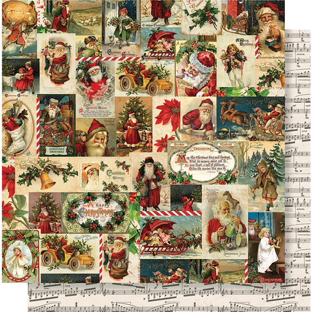 "Simple Stories - Simple Vintage Christmas Double-Sided Cardstock 12""X12"" - Jolly Holidays"