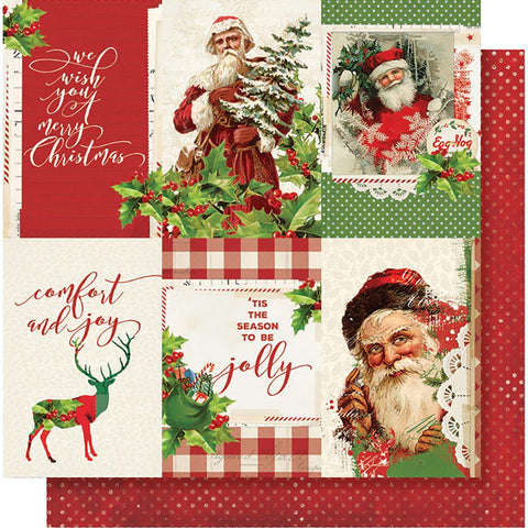 "Simple Stories - Simple Vintage Christmas Double-Sided Cardstock 12""X12"" 4""X6"" - Vertical Elements"