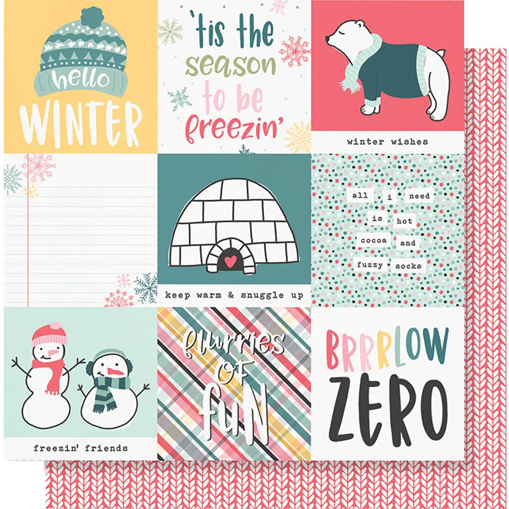 "Simple Stories - Freezin' Season Double-Sided Cardstock 12""X12"" - 4""X4"" Elements"