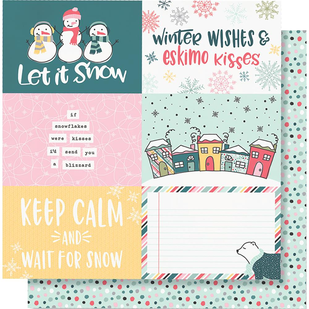 "Simple Stories - Freezin' Season Double-Sided Cardstock 12""X12"" - 4""X6"" Horizontal Elements"