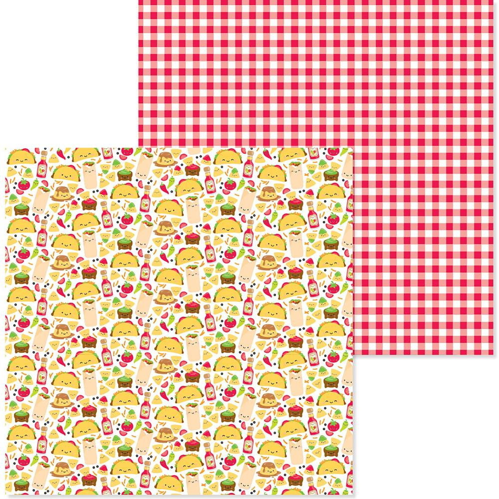 "Doodlebug - So Much Pun Double-Sided Cardstock 12""X12"" - Fantas-Taco"